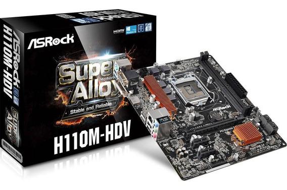 Tarjeta Madre Asrock H110m-hdv Socket Intel 1151 6th Gen