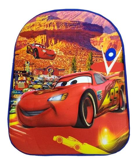 Mochila Pequena Infantil Relevo 3d Carros Mcqueen