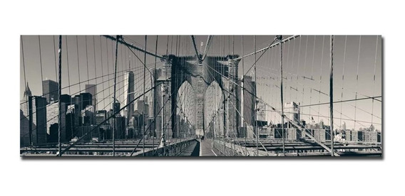 Cuadro Puente De Brooklyn Canvas Decorativo Y Modero 260x110