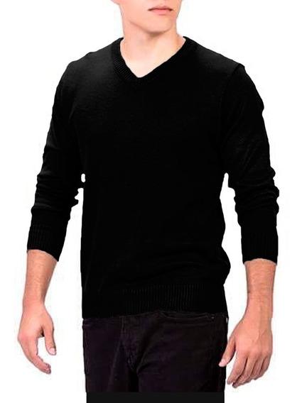 Suéter Masculino Preto Tricô Inverno Blusão Masculino
