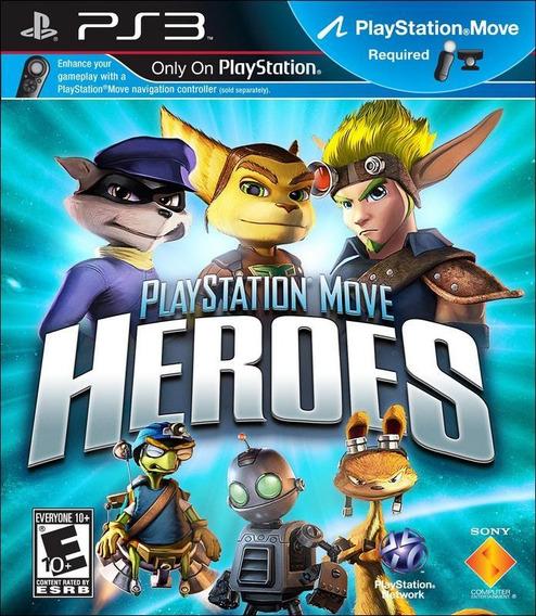 Jogo Playstation Move Heroes Ps3 Ps Move Mídia Física