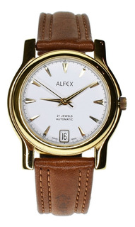 Reloj Alfex Of Switzerland - Automático - Tapa De Cristal
