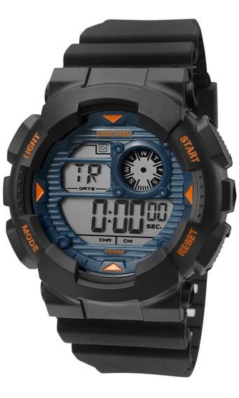 Relógio Masculino Digital Mormaii Oferta Borracha Mo3415/8a
