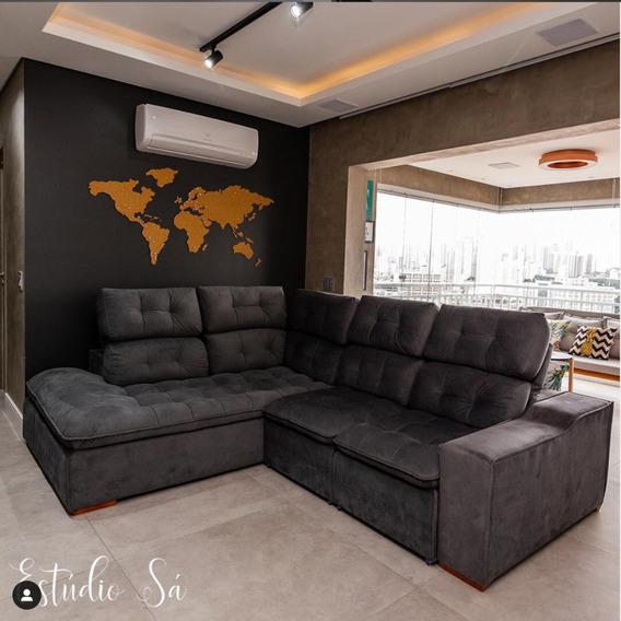 Apartamento Alto Padrão 102m 3 Dorm 2 Vagas Mobiliado Impeca