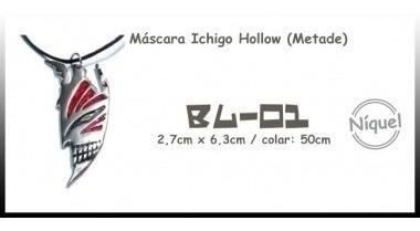Colar Máscara Ichigo Hollow (metade) (bleach)