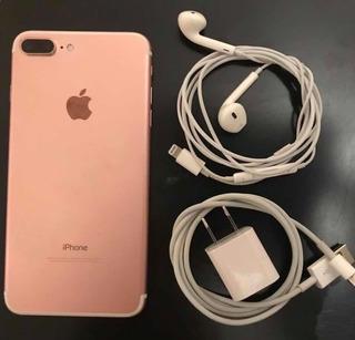 iPhone 7 Plus 256gb Rose Gold + 3 Fundas Originales