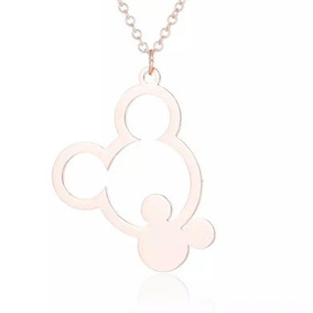 Gargantilha Colar Cordão Mickey Disney Rose Gold Infantil