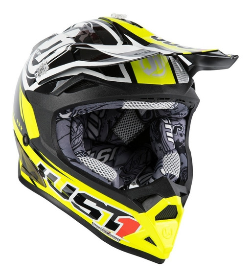 Casco Just1 J32 Pro Rave Series Yellow Black Tienda Oficial