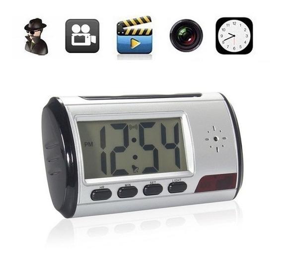 Cámara Oculta Espía Reloj Despertador Video Sonido Fotos
