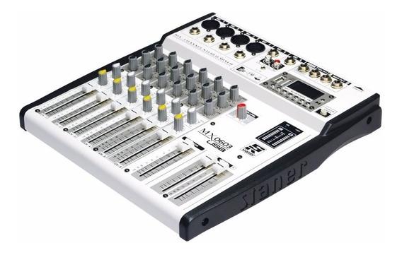 Mesa De Som Staner 6 Canais Mx0603 Usb/sd/fm Bluetooth