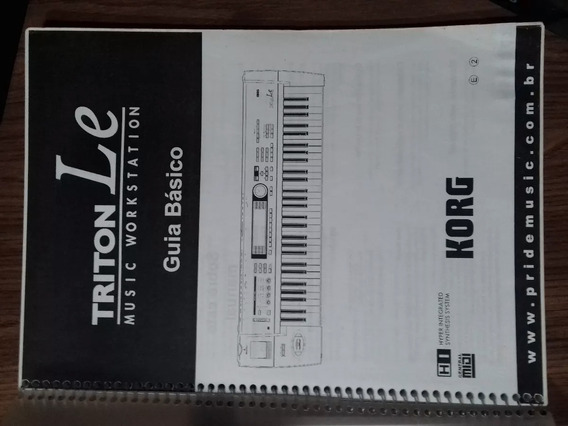 Manual Do Teclado Korg Triton Le Em Português Frete Gratis!