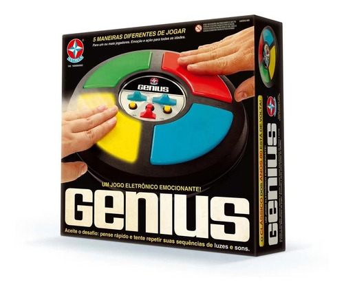 Imagem 1 de 3 de Jogo De Memória Clássico Anos 80 Genius Original Estrela