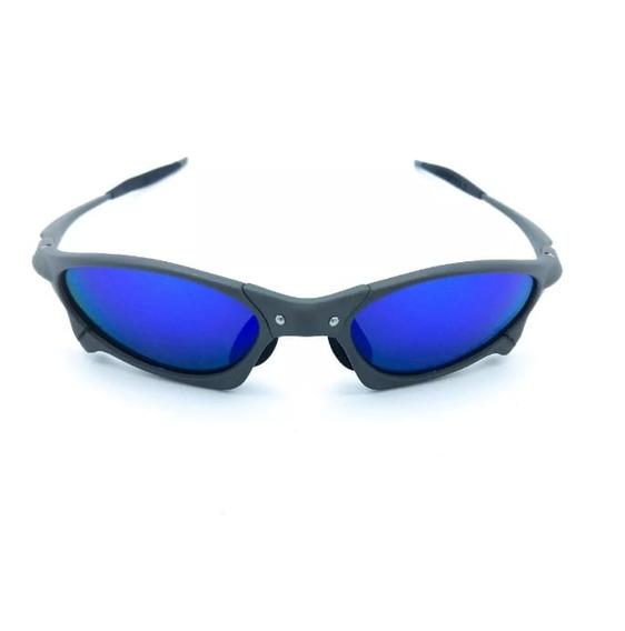 Óculos Oakley Juliet Penny Cinza Azul Metal Pronta Entrega!!