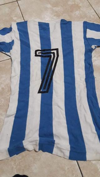 Antigua Camiseta Usada Por Colón En 1981, Modelo Manga Corta
