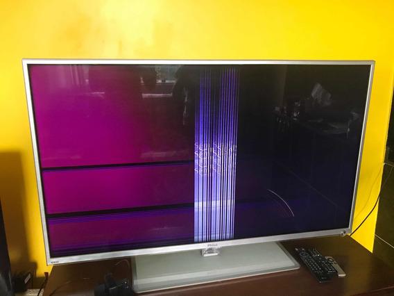 Tv Ph55m Led Smart 3d (55)-defeito Na Tela-retirada Peças