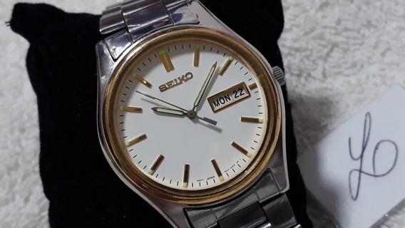Relógio Seiko Quartz 7 N43, Masculino, Lindo (ref.02) !