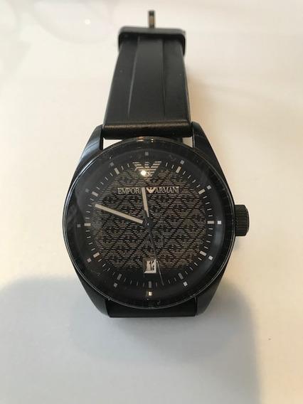 Relógio Emporio Armani Com Pulseira De Borracha