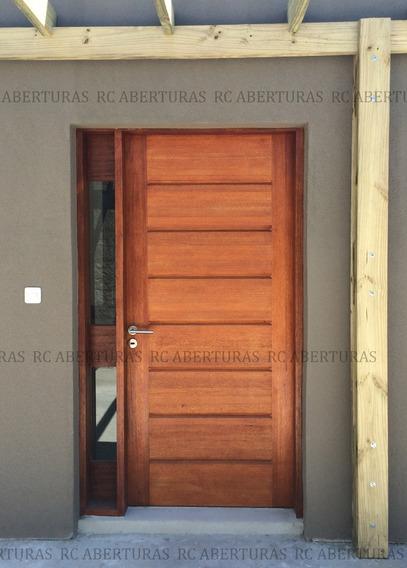 Puerta Exterior Madera C/acoples- Ej Un Acople Lateral