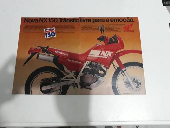 Propaganda Antiga Honda Nx 150 Coleção Anúncio Publicidade!!
