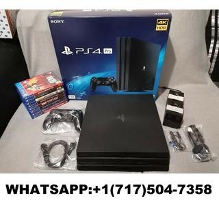 Ps4 Pro Console Playstation 4 Pro 1tb + 8 Juegos