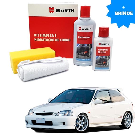 Kit Limpeza Hidratação Banco Couro Wurth Honda Civic 1998