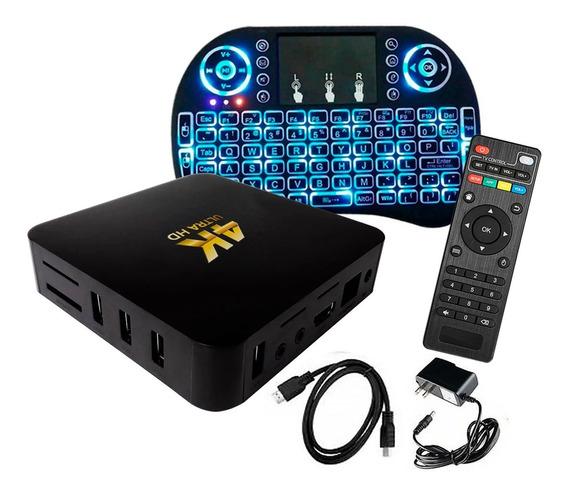 Convertidor Smart Tv Convertir Tv Box Android 8gb Mini Tecla