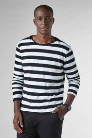Camiseta Df Listras Tricot Ml Reserva