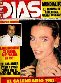 Revista * Siete Dias * Juan C. Calabro N° 707 Año 1981