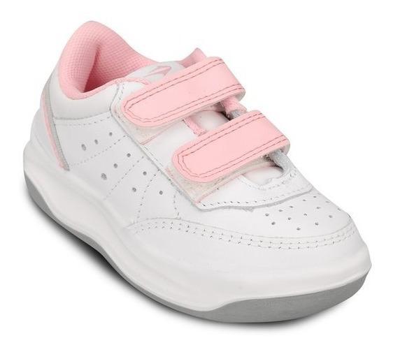 Zapatillas Topper Xforcer Escolar Blanca Velcro Envío Gratis
