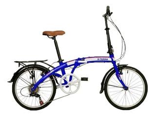 Bicicleta X-terra Plegable Fx20 R20 7 Vel Aluminio