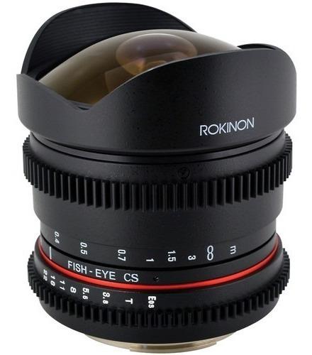 Rokinon 8mm T/3.8 Fisheye Cine P/ Canon Ef Mount - Novíssima