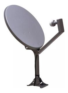 Antena Parabólica Satelital 60 + Soporte Universal Lnb Cuadruple