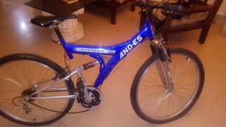 Bicicleta Montan Bike Rodado 26 Nueva Con Suspension Andes