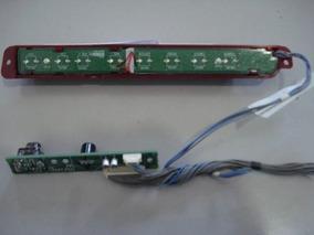 Kit Cabo Flat Lvds Sensor Ir Botão Alto Falantes Lg 32lg80fd