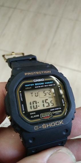 Casio G Shock Dw 5600 Serie Ouro, Rosca Ano 85 Antigo Lindo!