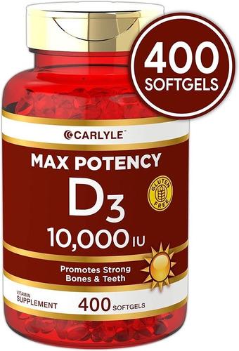 Imagen 1 de 3 de Vitamina D3 10,000iu Natural 400 Softgels
