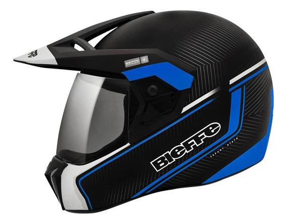 Capacete para moto integral Bieffe 3 Sport Stato azul tamanho 61