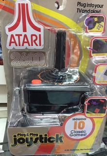 Atari 2600 Plug And Play Joystick Incluye 10 Juegos Nuevo