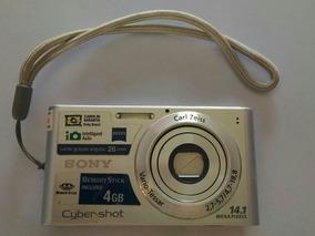 Câmera Fotográfica Cybershot Dsc-w320 14.1 Mpx Prata 2.7 Lcd