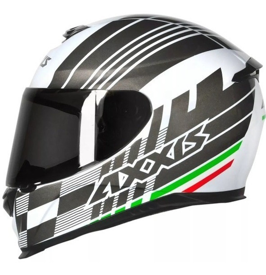 Capacete Axxis Eagle Italy Gloss Branco