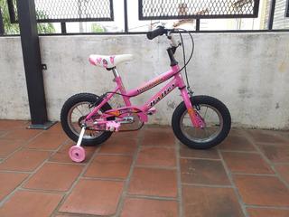 Bicicleta Halley Rodado 12 Paseo Rosa Como Nueva Y Lista