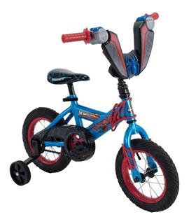 Bicicleta Para Niños Huffy Spiderman Hombre Araña Rodada 12