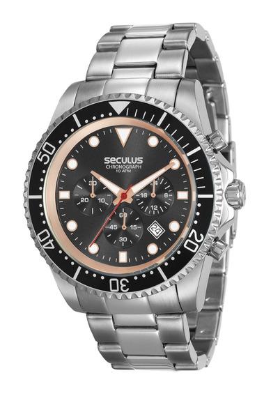 Relógio Seculus Masculino 13024gosvna1