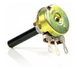 2x Potenciômetro Carvão 23mm 330k S/chave Lin