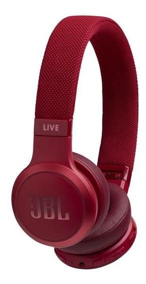 Fone De Ouvido Jbl Live 400bt Bluetooth Live 400 Vermelho