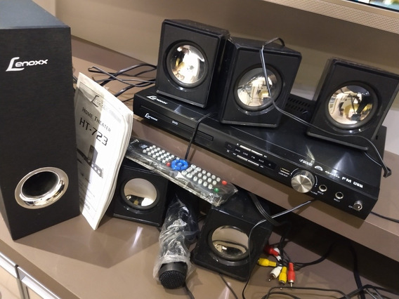 Home Theater (dvd, Karaokê, Conexão Usb) Ht - 723 Completo
