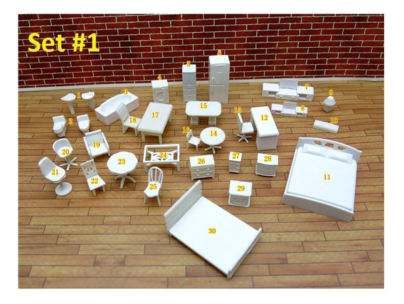 Miniaturas Escala Arquitectura Maquetas Mesa Sala Cama, 1:50