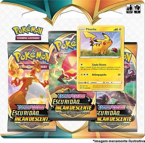 Triple Pack Pokémon Espada Escudo 3 Escuridão Incandescente
