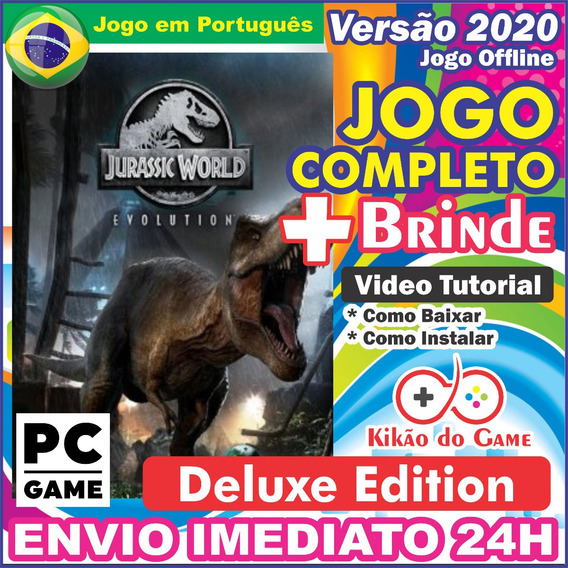 Jurassic World Evolution Deluxe Pc Digital / Br + Brinde