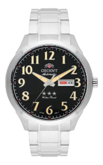 Relógio Masculino Clássico Prata Preto Orient 469ss074 P2sx